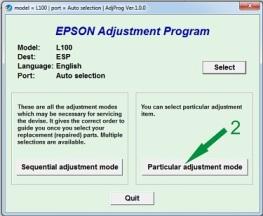 Reset Epson L1001