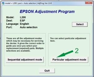 Reset Epson L200